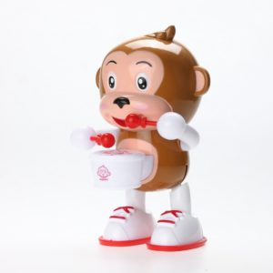 Children cartoon Electric Doll toy light music dance drum monkey