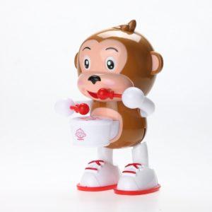 Children cartoon Electric Doll toy light music dance drum monkey