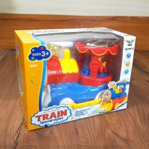 Electric Train Toys With Light And Musical fountain