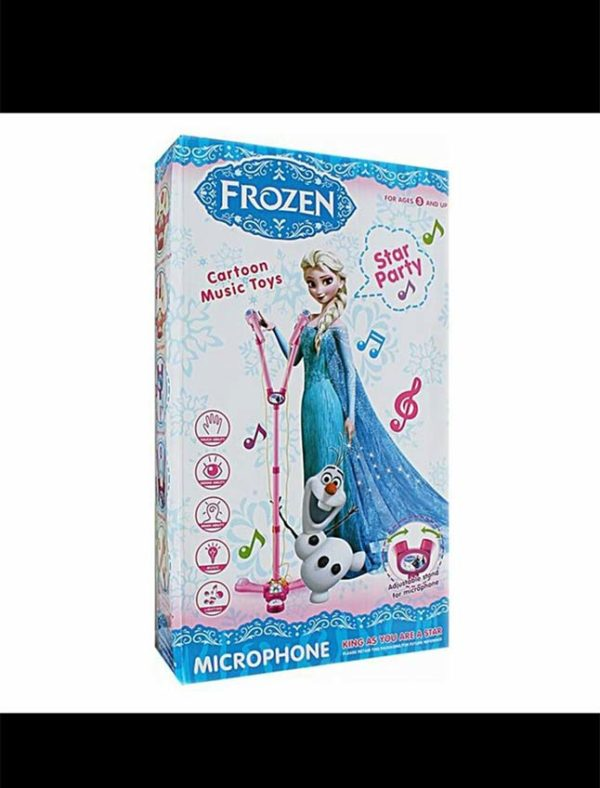 Frozen Microphone Stand with Music and Sound Light