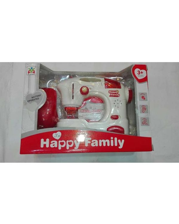 Happy Family Playing Toys Electronic Light Up Plastic Sewing Machine Toy