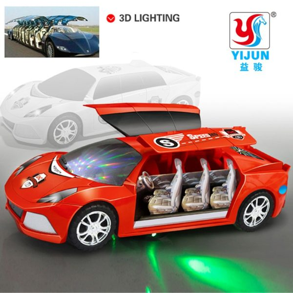 Lighted Music Moving Toy Super Car 23cm
