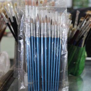 12pcs Artist Paint Brush Set - Blue