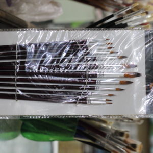 12pcs Synthetic Long Handle Round Brush Set