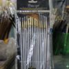 14 Pcs Artist Paint Brush Set - Silver