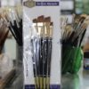 5pcs Artist Paint Brush Set - Black