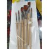 6PcsSet Artist Paint Brush Nylon Hair Wooden Handle For Watercolor Oil