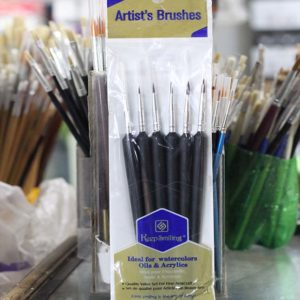 6pcs Artist Paint Brush - Black