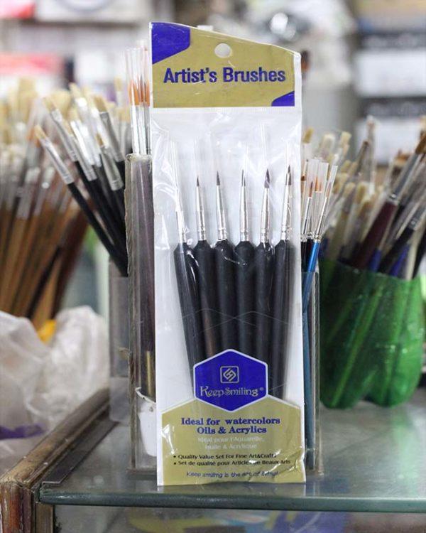 6pcs Artist Paint Brush - Black