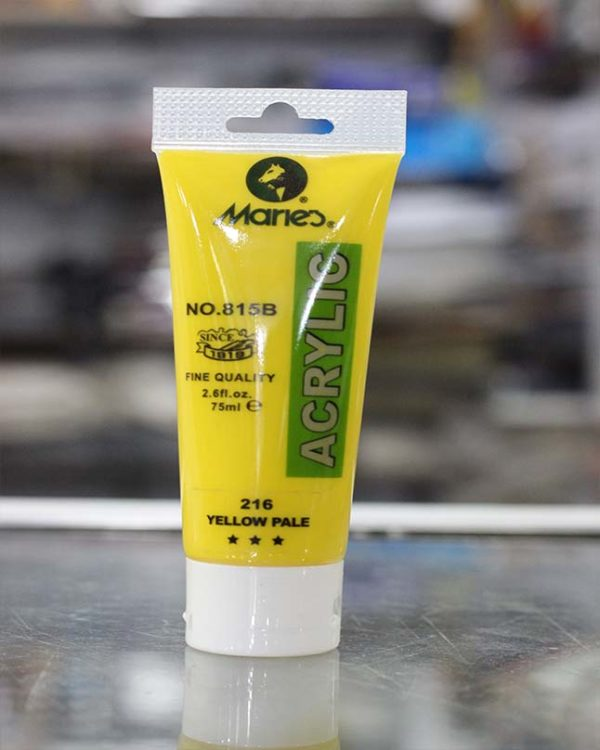 75ml Acrylic Paint Tubes - Yellow Pale