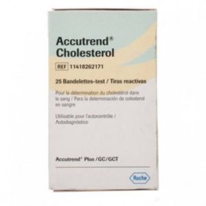 ACCUTREND CHOLESTEROL TEST STRIPS – 25 STRIPS