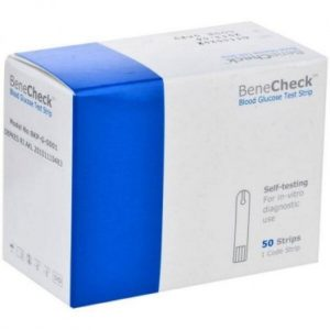 BeneCheck Glucose strips vial of box of 50 strips