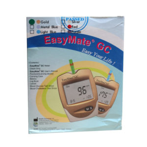 EasyMate GC – 2 in 1 Glucose + Cholesterol Meter