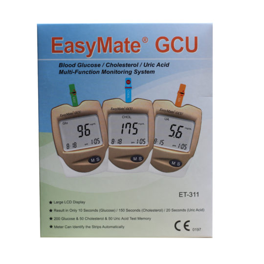 EasyMate GCU – 3 in 1 Glucose Cholesterol Uric Acid Meter