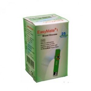 EasyMate Glucose Strips – 25 Pieces