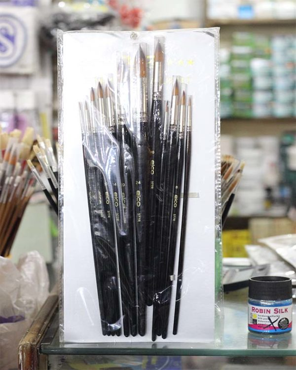 Elco 12 Pcs Artist Paint Brush - Black