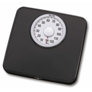Mechanical scale with extra large display and non-slippery surface