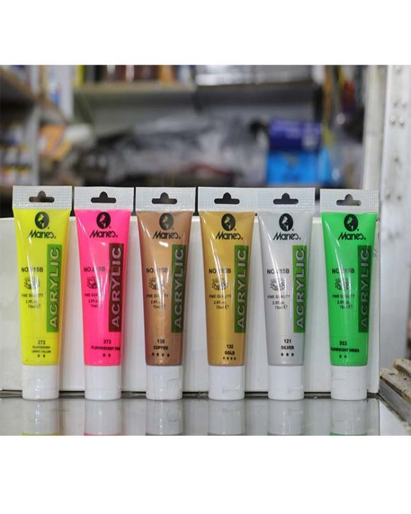 Pack of 6 Special Color Acrylic Paint Tubes 75ml