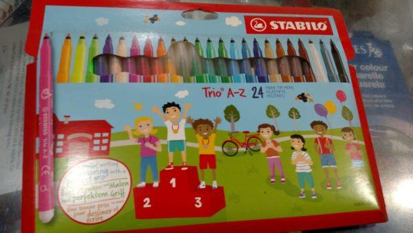 STABILO® Trio AZ 24 pcs Fiber Fixture Pack with Triangular Grip Zone