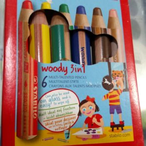STABILO Woody 3-in-1 Multi-Talented Pencil Wallet of 6 Assorted Colours
