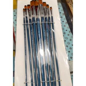 Worison Artist Brush Chisel Different Size Pack Of 9 -