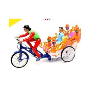 2TR Cycle Rickshaw For Kids With IC Sound & Led Flashlight