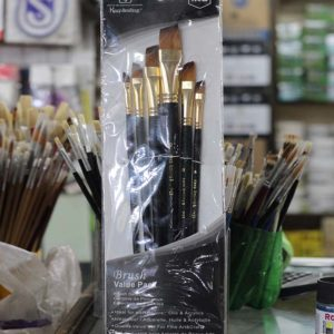 6pcs Big Paint Brush Value Pack - Black